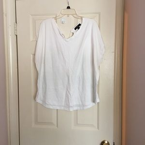 Ellos white v neck top
